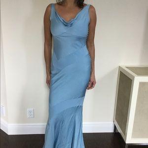 John Galliano Powder Blue Gown